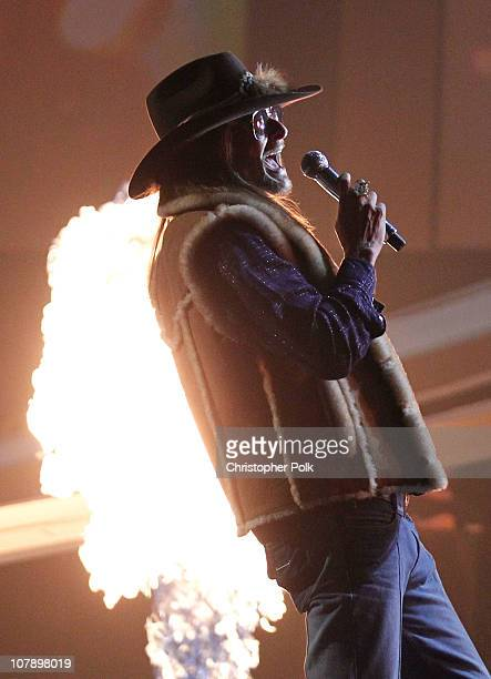 Musician Kid Rock performs onstage during the 2011 People's Choice Awards at Nokia Theatre LA Live on January 5 2011 in Los Angeles California