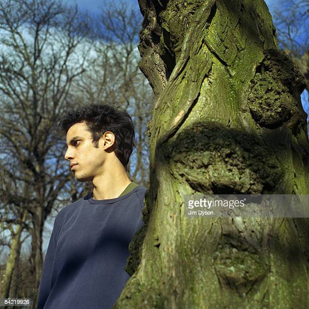 Musician Kieran Hebden aka Four Tet poses in Camden Square on March 13 2003 in London England