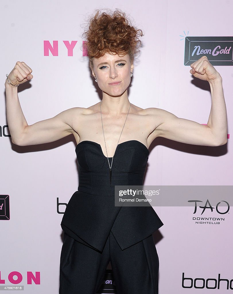 Musician Kiesza attends NYLON and Boohoo Music Issue Party at Dream Downtown on June 4, 2015 in New York City.