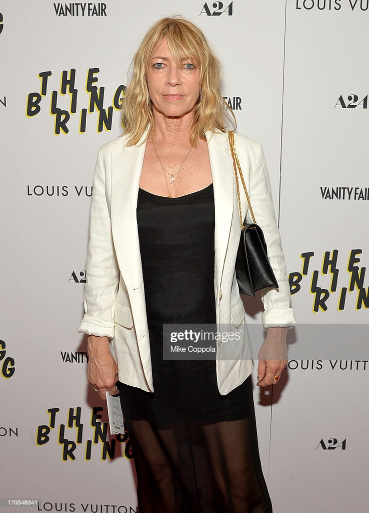 Musician Kim Gordon attends 'The Bling Ring' screening at Paris Theatre on June 11, 2013 in New York City.