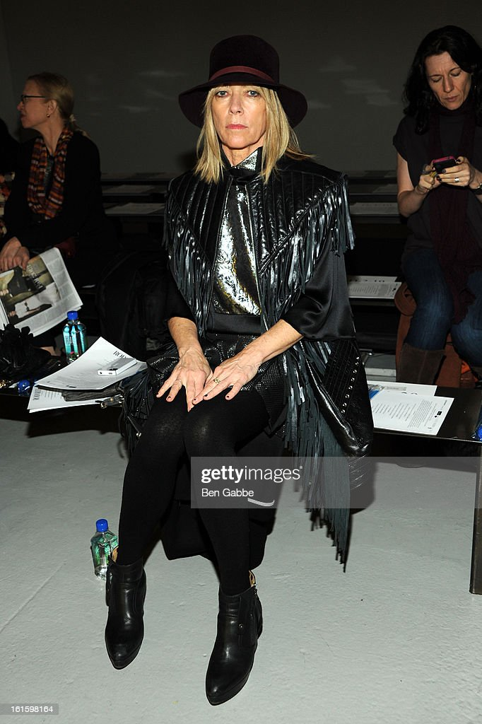 Musician Kim Gordon attends the Rodarte Fall 2013 fashion show during Mercedes-Benz Fashion Week at 548 West 22nd Street on February 12, 2013 in New York City.