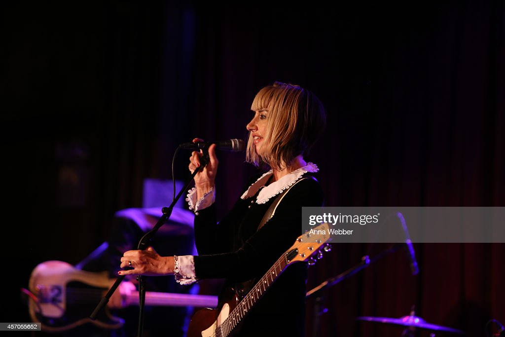 Musician Kim Shattuck of The Muffs perform during the CBGB Music Film Festival 2014 The Muffs Upset at The Bell House on October 10 2014 in Brooklyn...