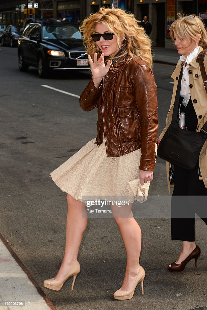 Musician Kimberly Perry of The Band Perry enters the 'Late Show With David Letterman' taping at the Ed Sullivan Theater on April 1, 2013 in New York City.