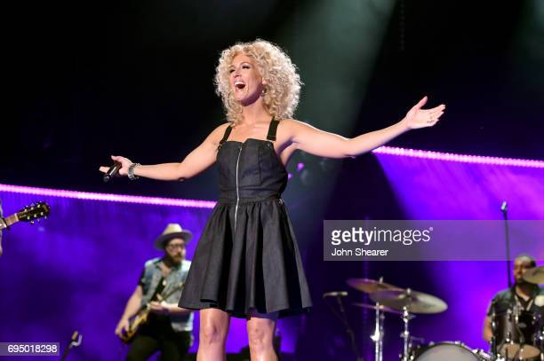 Musician Kimberly Schlapman of Little Big Town performs onstage for day 4 of the 2017 CMA Music Festival on June 11 2017 in Nashville Tennessee
