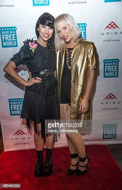 Musician Kimbra and Musician Natasha Bedingfield attend the Rock In A Free World concert at Highline Ballroom on September 28 2015 in New York City