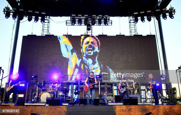 Musician Kip Moore performs on the Toyota Mane Stage during day 2 of 2017 Stagecoach California's Country Music Festival at the Empire Polo Club on...
