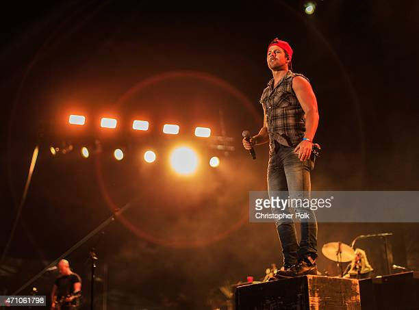 Musician Kip Moore performs onstage during day one of 2015 Stagecoach California's Country Music Festival at The Empire Polo Club on April 24 2015 in...