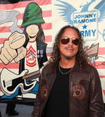 Musician Kirk Hammett attends the The 6th Annual Johnny Ramone Tribute at Hollywood Forever on July 25 2010 in Hollywood California