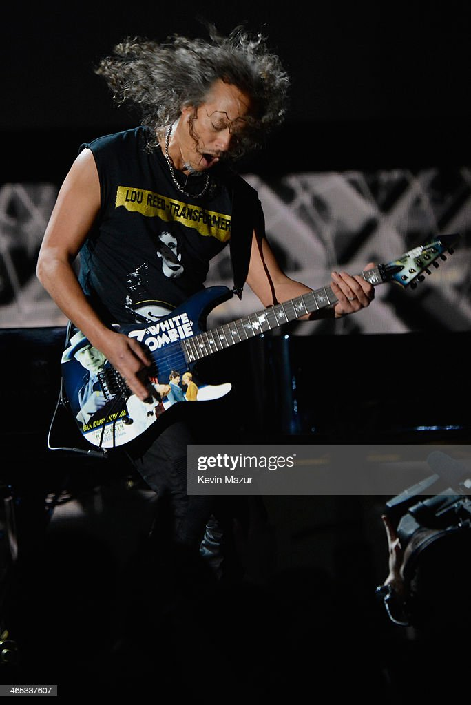 Musician Kirk Hammett onstage during the 56th GRAMMY Awards at Staples Center on January 26 2014 in Los Angeles California