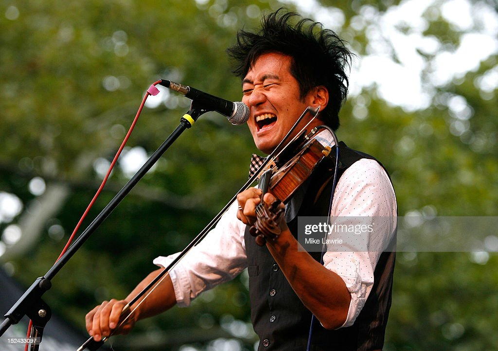 Musician Kishi Bashi performs at SummerStage at Rumsey Playfield, Central Park on September 20, 2012 in New York City.