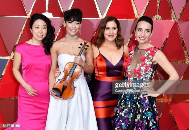 Musician Kokoe TanakaSuwan Brianna Perez and filmmakers Kahane Cooperman and Raphaela Neihausen attends the 89th Annual Academy Awards at Hollywood...