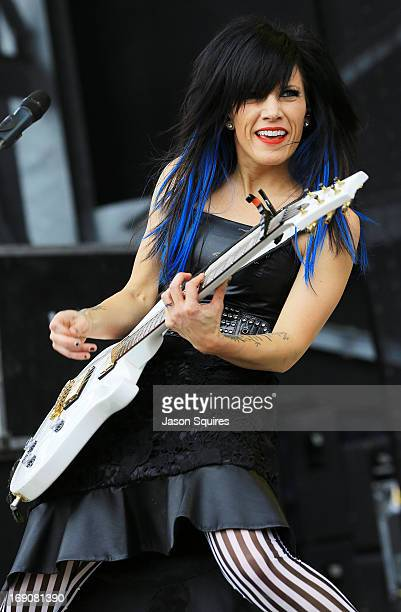 Musician Korey Cooper of Skillet performs during 2013 Rock On The Range at Columbus Crew Stadium on May 19 2013 in Columbus Ohio