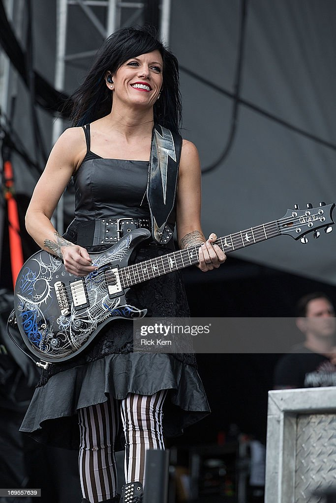Musician Korey Cooper of Skillet performs in concert during River City Rockfest at the ATT Center on May 26 2013 in San Antonio Texas