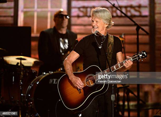 Musician Kris Kristofferson performs onstage during the 56th GRAMMY Awards at Staples Center on January 26 2014 in Los Angeles California