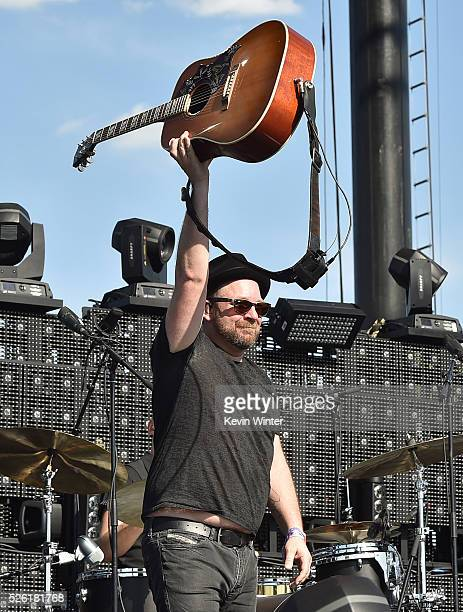 Musician Kristian Bush performs onstage during 2016 Stagecoach California's Country Music Festival at Empire Polo Club on April 29 2016 in Indio...