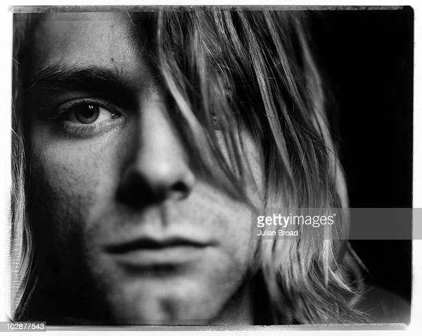 Musician Kurt Cobain of Nirvana poses for a portrait shoot in London