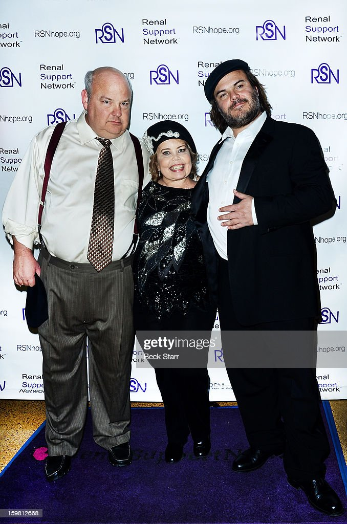Musician Kyle Gass, RSN founder/ president Lori Hartwell and actor Jack Black arrive at 14th Annual RSN's Renal Teen Prom at Notre Dame High School on January 20, 2013 in Sherman Oaks, California.