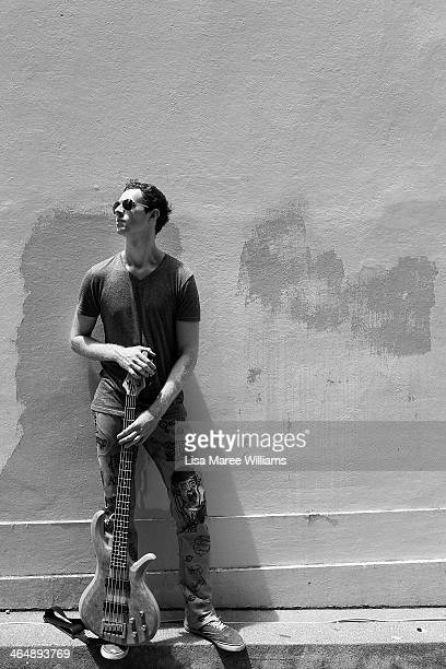 Musician Kyle Hodges of the 'VanderAa' poses on Peel Street during The Tamworth Country Music Festival on January 24 2014 in Tamworth Australia The...