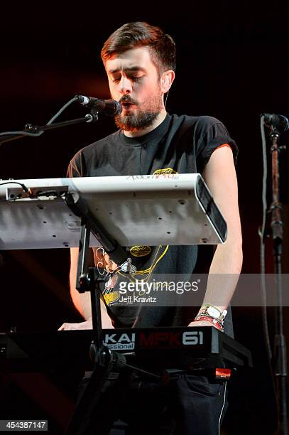 Musician Kyle Jonathan Simmons of Bastille performs onstage at the 24th Annual KROQ Almost Acoustic Christmas at The Shrine Auditorium on December 8...