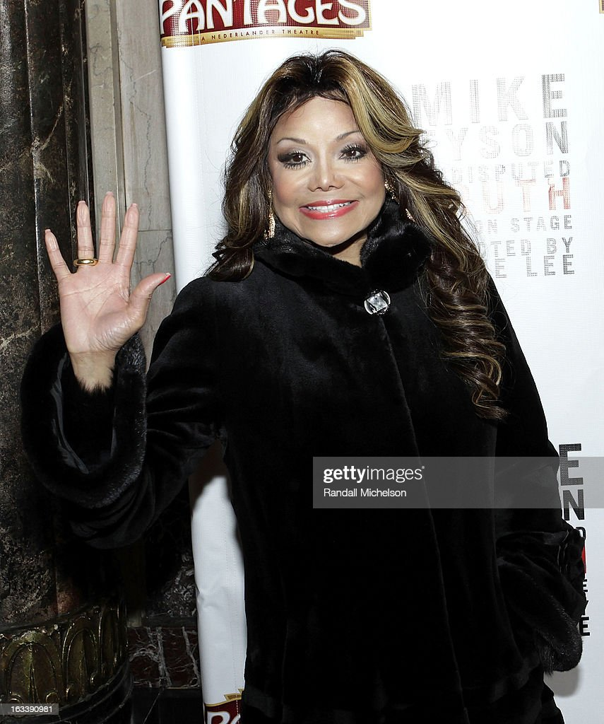 Musician La Toya Jackson attends the Los Angeles Premiere of 'Mike Tyson - Undisputed Truth' at the Pantages Theatre on March 8, 2013 in Hollywood, California.