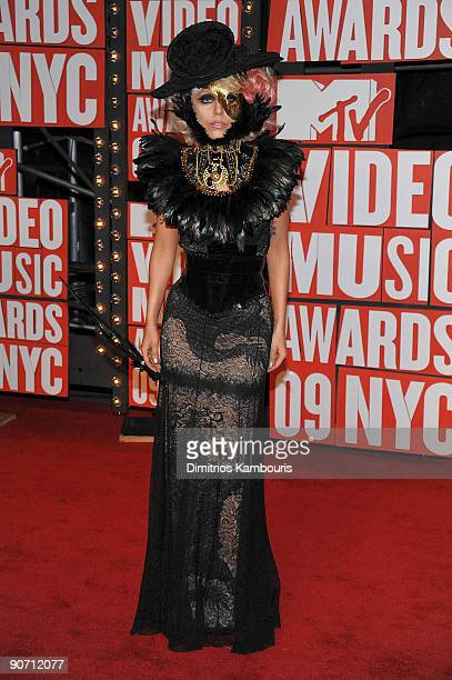 Musician Lady Gaga attends the 2009 MTV Video Music Awards at Radio City Music Hall on September 13 2009 in New York City