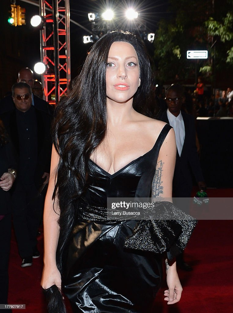 Musician Lady Gaga attends the 2013 MTV Video Music Awards at the Barclays Center on August 25, 2013 in the Brooklyn borough of New York City.