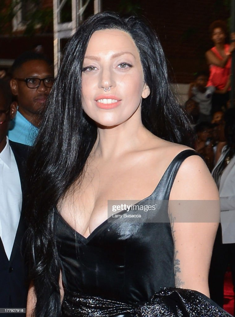 Musician <a gi-track='captionPersonalityLinkClicked' href=/galleries/search?phrase=Lady+Gaga&family=editorial&specificpeople=4456754 ng-click='$event.stopPropagation()'>Lady Gaga</a> attends the 2013 MTV Video Music Awards at the Barclays Center on August 25, 2013 in the Brooklyn borough of New York City.