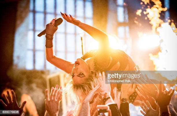 Musician Lady Gaga performs during The 59th GRAMMY Awards at STAPLES Center on February 12 2017 in Los Angeles California