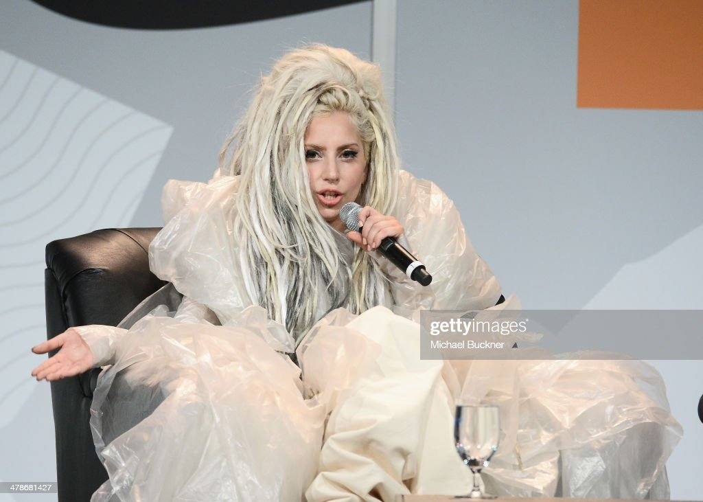 Musician Lady Gaga speaks at the 2014 SXSW Music, Film + Interactive Festival at the Hilton on March 14, 2014 in Austin, Texas.