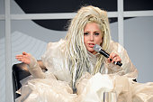 Musician Lady Gaga speaks during Keynote at SXSW at Austin Convention Center on March 14 2014 in Austin Texas