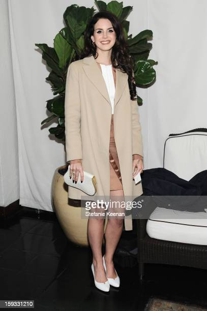 Musician Lana Del Rey attends Dom Perignon and W Magazine's celebration of The Golden Globes at Chateau Marmont on January 11 2013 in Los Angeles...