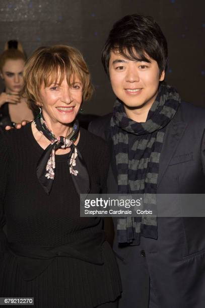 Musician Lang Lang and Eve Ruggieri during the Musician Lang Lang Wax Work Unveiling at Musee Grevin on May 5 2017 in Paris France