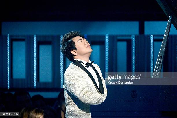 Musician Lang Lang performs onstage during the 56th GRAMMY Awards at Staples Center on January 26 2014 in Los Angeles California