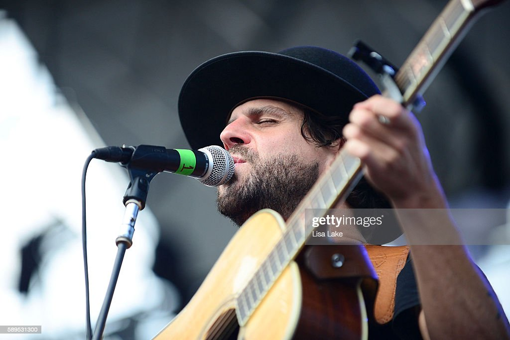 Musician Langhorne Slim performs during Musikfest on Sands Steel Stage at PNC Plaza on August 14 2016 in Bethlehem Pennsylvania