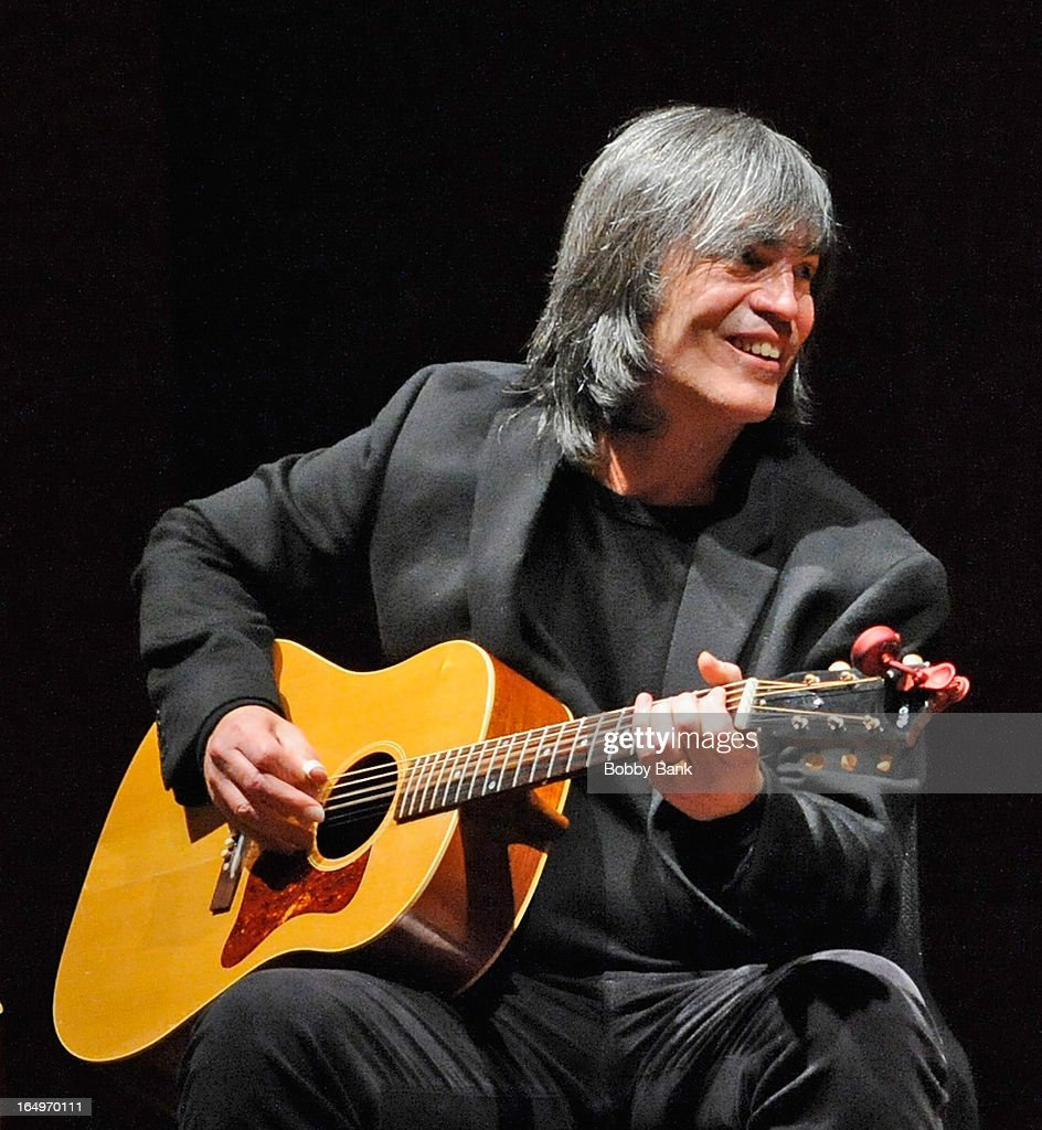 Musician Larry Campbell performs at the Rubin Museum of Art on March 29, 2013 in New York City.