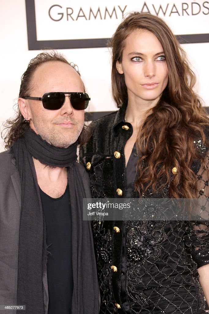 Musician Lars Ulrich (L) and model Jessica Miller attend the 56th GRAMMY Awards at Staples Center on January 26, 2014 in Los Angeles, California.