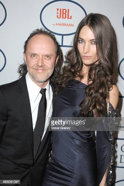Musician Lars Ulrich and model Jessica Miller attends the 56th annual GRAMMY Awards PreGRAMMY Gala and Salute to Industry Icons honoring Lucian...