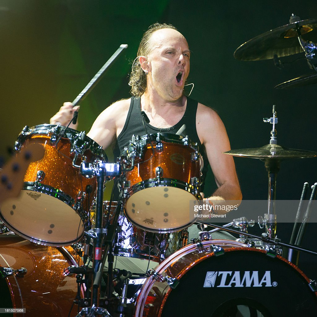 Musician Lars Ulrich of Metallica performs at a private exclusive concert for SiriusXM listeners at The Apollo Theater on September 21, 2013 in New York City.