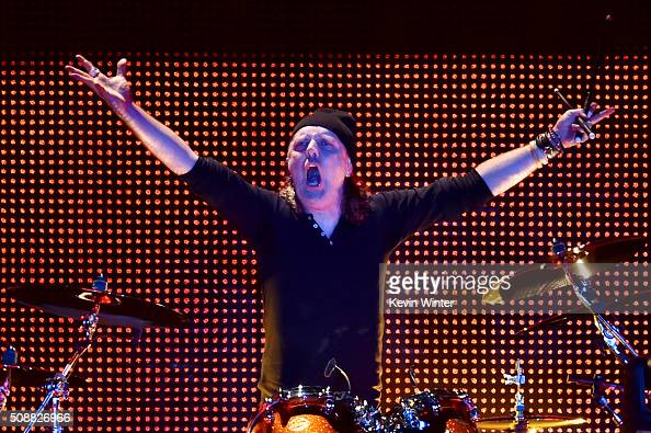 Musician Lars Ulrich of Metallica performs onstage at CBS RADIO's third annual 'The Night Before' at ATT Park Presented by Salesforce on February 6...