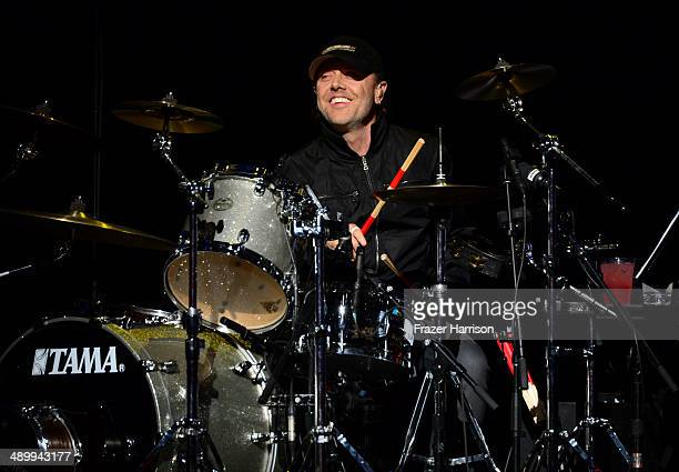 Musician Lars Ulrich of Metallica performs onstage at the 10th annual MusiCares MAP Fund Benefit Concert at Club Nokia on May 12 2014 in Los Angeles...