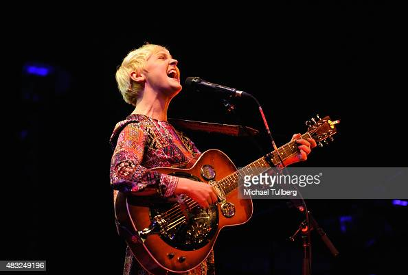 Musician Laura Marling performs at Palace Theatre on August 6 2015 in Los Angeles California
