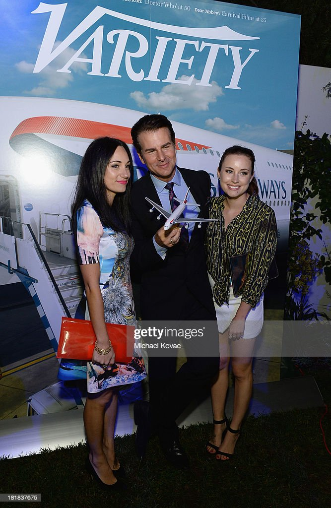 Musician Lauren Harris, actor Vincent De Paul and Faye Harris attend British Airways and Variety Celebrate The Inaugural A380 Service Direct from Los Angeles to London and Discover Variety's 10 Brits to Watch on September 25, 2013 in Los Angeles, California.