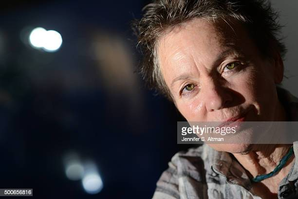 Musician Laurie Anderson is photographed for Los Angeles Times on October 29 2015 in New York City PUBLISHED IMAGE