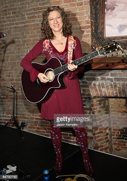 Musician Laurie Berkner attends the Kidscreen Summit cocktail reception at Little Airplane Productions on February 10 2009 in New York City