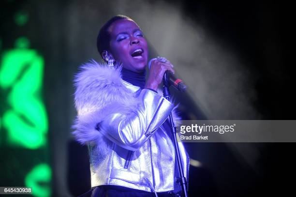 Musician Lauryn Hill performs at Radio City Music Hall on February 25 2017 in New York City