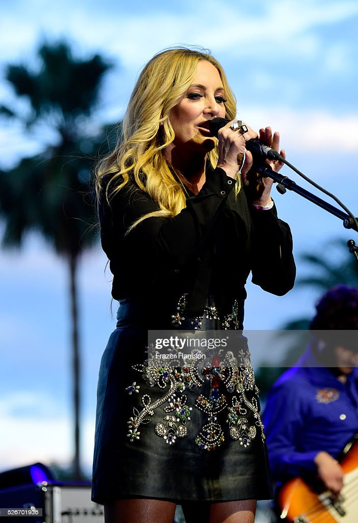 Musician Lee Ann Womack performs onstage during 2016 Stagecoach California's Country Music Festival at Empire Polo Club on April 30, 2016 in Indio, California.