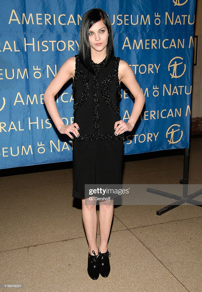 Musician Leigh Lezark arrives to the American Museum of Natural History Winter's Dance at the American Museum of Natural History on March 11 2008 in...