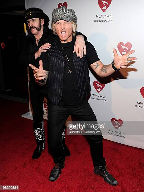 Musician Lemmy Kilmister and musician Matt Sorum arrive at the 6th Annual MusiCares MAP Fund Benefit Concert at Club Nokia on May 7 2010 in Los...
