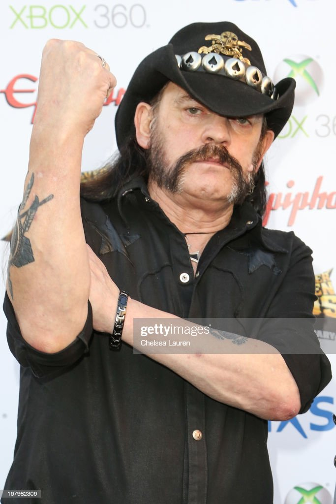 Musician <a gi-track='captionPersonalityLinkClicked' href=/galleries/search?phrase=Lemmy+Kilmister&family=editorial&specificpeople=213644 ng-click='$event.stopPropagation()'>Lemmy Kilmister</a> of Motorhead arrives at the 5th Annual Revolver Golden Gods awards show at Club Nokia on May 2, 2013 in Los Angeles, California.