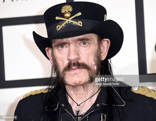 Musician Lemmy of Motorhead attends The 57th Annual GRAMMY Awards at the STAPLES Center on February 8 2015 in Los Angeles California